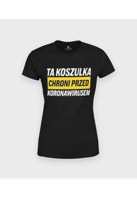 MegaKoszulki - Koszulka damska Ochrona przed koronawirusem. Materiał: bawełna