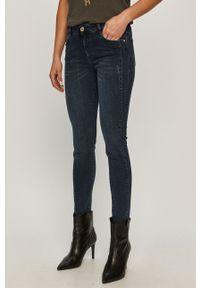 Niebieskie jeansy Trussardi Jeans klasyczne, w kolorowe wzory