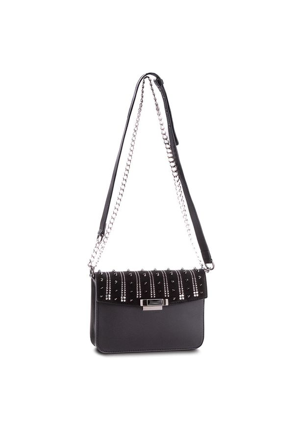 Czarna torebka Loriblu elegancka, zamszowa