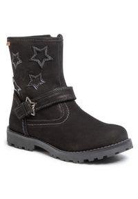 Czarne buty zimowe Lasocki Kids z aplikacjami, z cholewką, na spacer