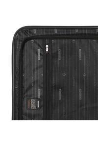 Czarna walizka Wittchen klasyczna, w kolorowe wzory
