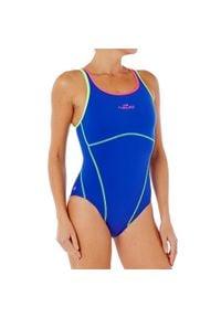 NABAIJI - Strój jednoczęściowy pływacki Kamiye+ damski. Kolor: niebieski, zielony, wielokolorowy. Materiał: poliamid, materiał, poliester