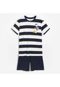 Reserved - Dwuczęściowa piżama Kaczor Donald - Biały. Kolor: biały. Wzór: motyw z bajki