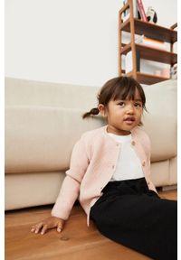 Różowy sweter Mango Kids casualowy, na co dzień