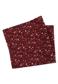 Czerwona poszetka EM Men's Accessories w kwiaty
