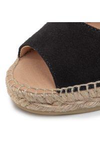 Czarne sandały Kanna na średnim obcasie, na co dzień, casualowe