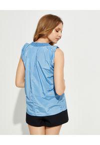Kenzo - KENZO - Niebieski top na ramiączkach. Kolor: niebieski. Materiał: len, materiał. Długość rękawa: na ramiączkach. Sezon: lato