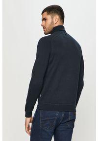 Niebieski sweter Only & Sons z golfem, długi