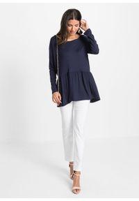 Shirt oversize bonprix ciemnoniebieski. Kolor: niebieski
