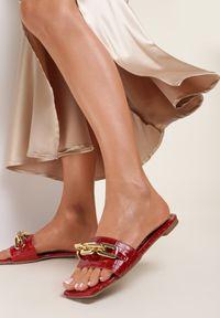 Renee - Czerwone Klapki Daphinilla. Kolor: czerwony