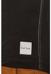 Paul Smith - T-shirt. Okazja: na co dzień. Kolor: czarny. Materiał: dzianina. Wzór: gładki. Styl: casual
