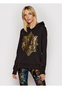 Versace Jeans Couture Bluza 71HAIF05 Czarny Regular Fit. Typ kołnierza: kołnierzyk włoski. Kolor: czarny