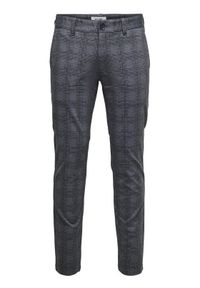 Only & Sons Spodnie materiałowe Mark 22018649 Szary Regular Fit. Kolor: szary. Materiał: materiał