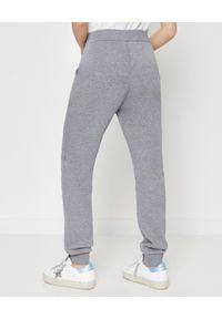 MONCLER - Szare spodnie dresowe. Kolor: szary. Materiał: dresówka. Wzór: nadruk. Sport: fitness