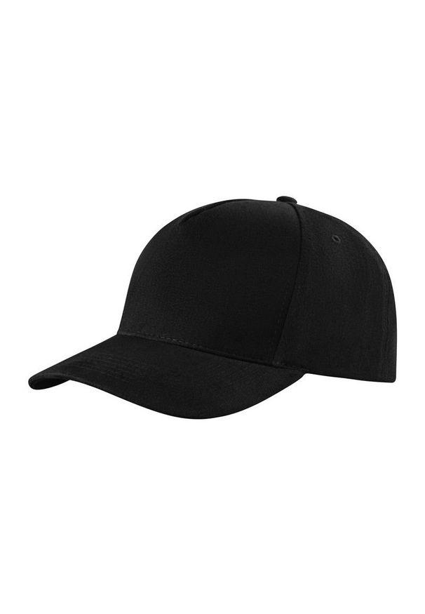 Czarna czapka Janpol na lato, z haftami