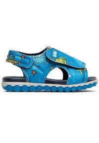 Bibi - Sandały BIBI - Summer Roller Spoi 1103048 Print/Aqua. Kolor: niebieski. Materiał: materiał. Wzór: nadruk. Sezon: lato