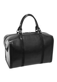 Czarna torba na laptopa MCKLEIN w kolorowe wzory