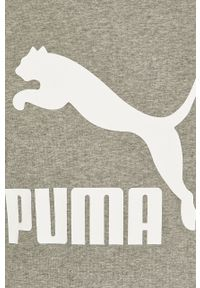 Szara bluza nierozpinana Puma z nadrukiem, casualowa, na co dzień