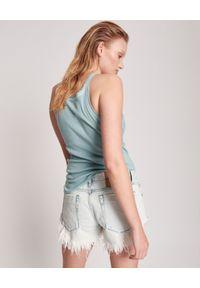 ONETEASPOON - Jeansowe szorty Bonita Lowa Waist. Stan: obniżony. Kolor: biały. Materiał: jeans. Wzór: aplikacja. Styl: klasyczny