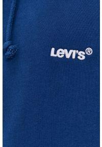 Levi's® - Levi's - Bluza bawełniana. Okazja: na spotkanie biznesowe. Kolor: niebieski. Materiał: bawełna. Wzór: gładki, aplikacja. Styl: biznesowy