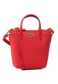 Czerwona torebka klasyczna Lacoste klasyczna