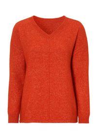 Czerwony sweter Cellbes z dekoltem w serek, długi