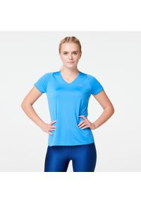 Niebieska koszulka do biegania KALENJI na lato