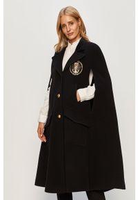Czarny płaszcz Pinko klasyczny, bez kaptura, na co dzień