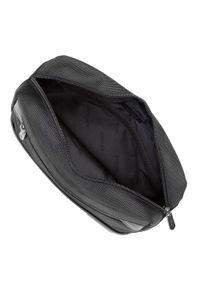 Wittchen - Męska torebka nerka z krytym suwakiem. Kolor: czarny. Materiał: poliester. Wzór: aplikacja. Styl: sportowy, klasyczny