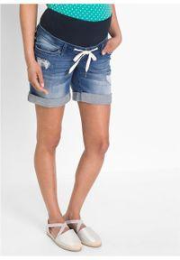 Niebieskie jeansy bonprix krótkie, na lato