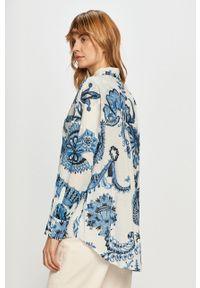 Desigual - Koszula bawełniana. Okazja: na co dzień. Kolor: biały. Materiał: bawełna. Długość rękawa: długi rękaw. Długość: długie. Styl: casual
