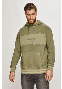 Levi's® - Levi's - Bluza bawełniana. Okazja: na spotkanie biznesowe. Typ kołnierza: kaptur. Kolor: zielony. Materiał: bawełna. Wzór: aplikacja. Styl: biznesowy