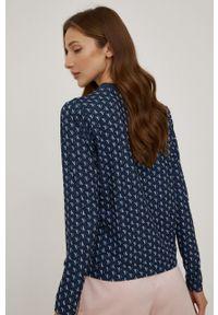 Calvin Klein Underwear - Longsleeve piżamowy. Kolor: niebieski. Materiał: dzianina