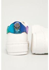 Kurt Geiger London - Buty skórzane. Nosek buta: okrągły. Zapięcie: sznurówki. Kolor: biały. Materiał: skóra. Obcas: na platformie