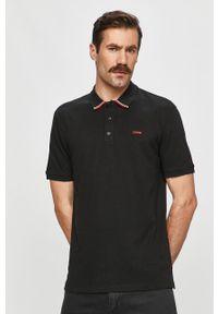 Czarna koszulka polo Hugo polo, krótka