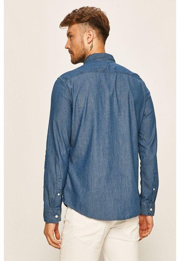 Niebieska koszula Levi's® w kolorowe wzory, z klasycznym kołnierzykiem, biznesowa