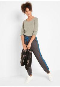 Spodnie sportowe, długie, Level 1 bonprix antracytowy melanż - niebieski polarny. Kolor: szary. Długość: długie. Wzór: melanż. Styl: sportowy