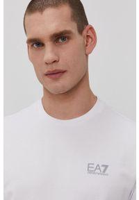 EA7 Emporio Armani - Longsleeve. Okazja: na co dzień. Kolor: biały. Długość rękawa: długi rękaw. Styl: casual