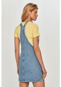 Pepe Jeans - Sukienka jeansowa. Okazja: na co dzień. Kolor: niebieski. Typ sukienki: proste. Styl: casual