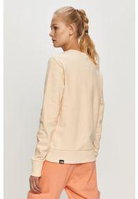 The North Face - Bluza bawełniana. Okazja: na co dzień. Kolor: beżowy. Materiał: bawełna. Długość rękawa: długi rękaw. Długość: długie. Wzór: nadruk. Styl: casual