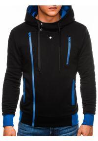 Czarna bluza Ombre Clothing z kapturem #5