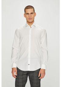 Biała koszula Tommy Hilfiger Tailored z włoskim kołnierzykiem, gładkie