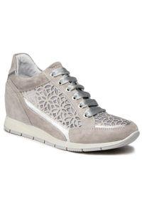 Sergio Bardi - Sneakersy SERGIO BARDI - SB-63-11-001156 239. Okazja: na spacer. Kolor: szary. Materiał: skóra, zamsz, materiał. Szerokość cholewki: normalna. Sezon: lato. Obcas: na koturnie. Wysokość obcasa: średni