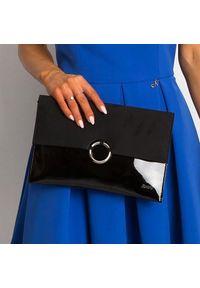 Czarna kopertówka ROVICKY lakierowana, wizytowa