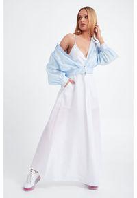 Sukienka Emporio Armani gładkie, na ramiączkach, na lato, maxi