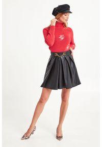 Sweter Elisabetta Franchi z golfem, do pracy