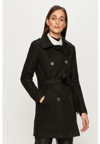 Czarny płaszcz only na co dzień, bez kaptura