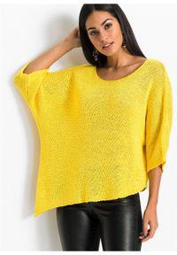 Żółty sweter bonprix długi