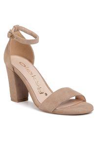 Beżowe sandały Oleksy na co dzień, casualowe #7