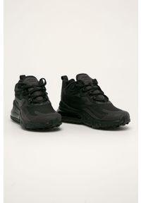 Czarne sneakersy Nike z cholewką, na sznurówki, z okrągłym noskiem
